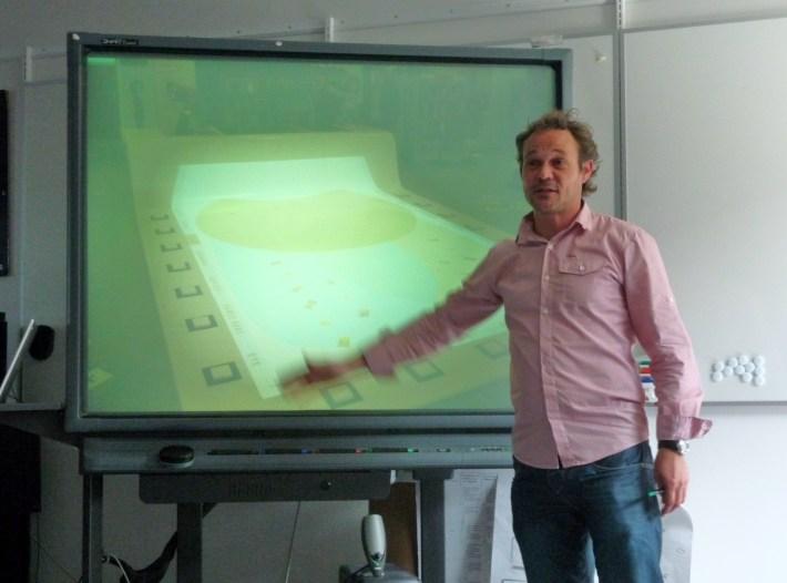 Peter Gall Krogh esitteli InteractiveSpacesin toteutuksia